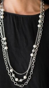 """Classical Cadence"" - Silver Necklace Set"